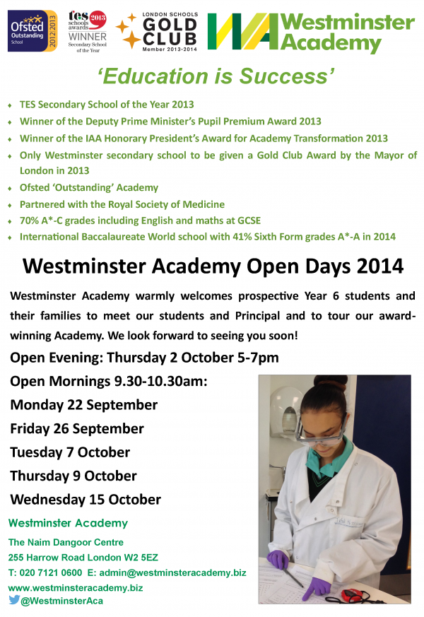 WA Open Days autumn 2014