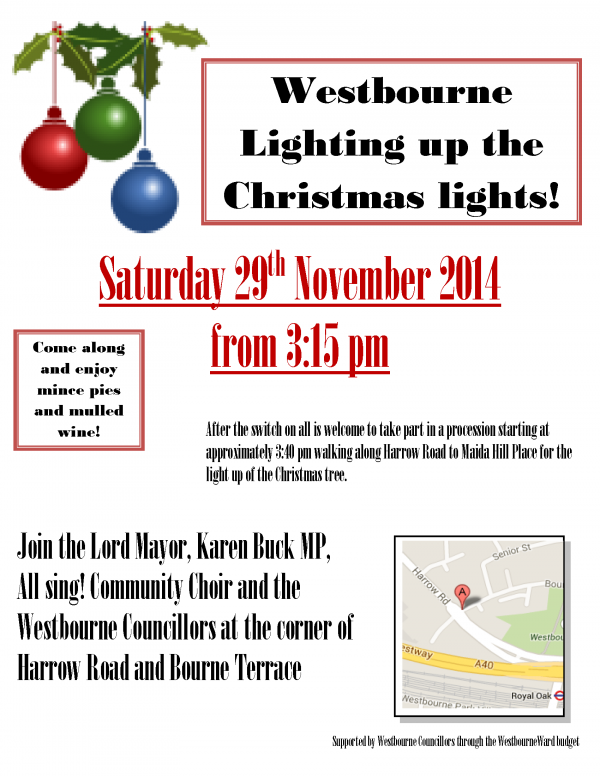 Westbourne Christmas Lights event - 29th Nov 2014